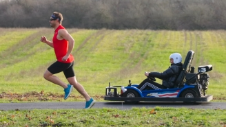Olympic Runner Nick Symmonds Races Go-Kart To See Who's Faster And Puts On A Pretty Impressive Performance