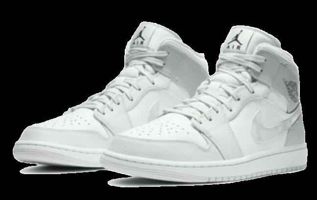 Nike Air Jordan 1 Mid White Grey Camo