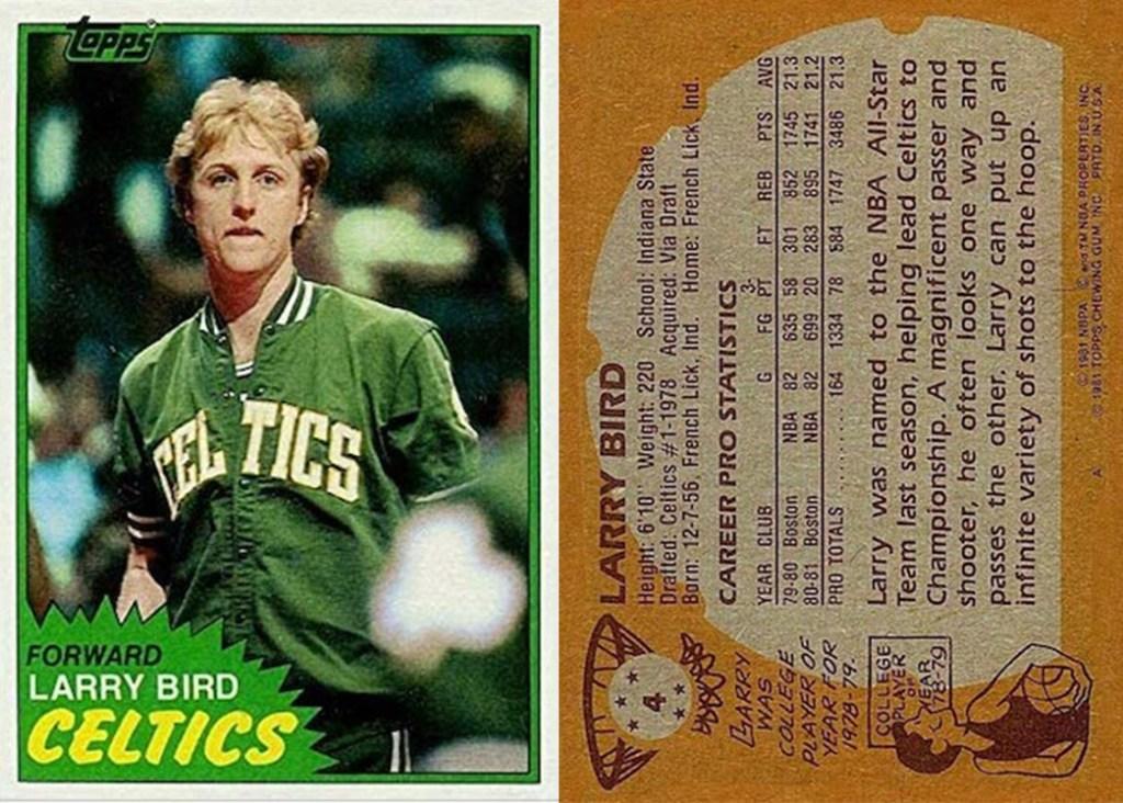 Rare Larry Bird Topps Card