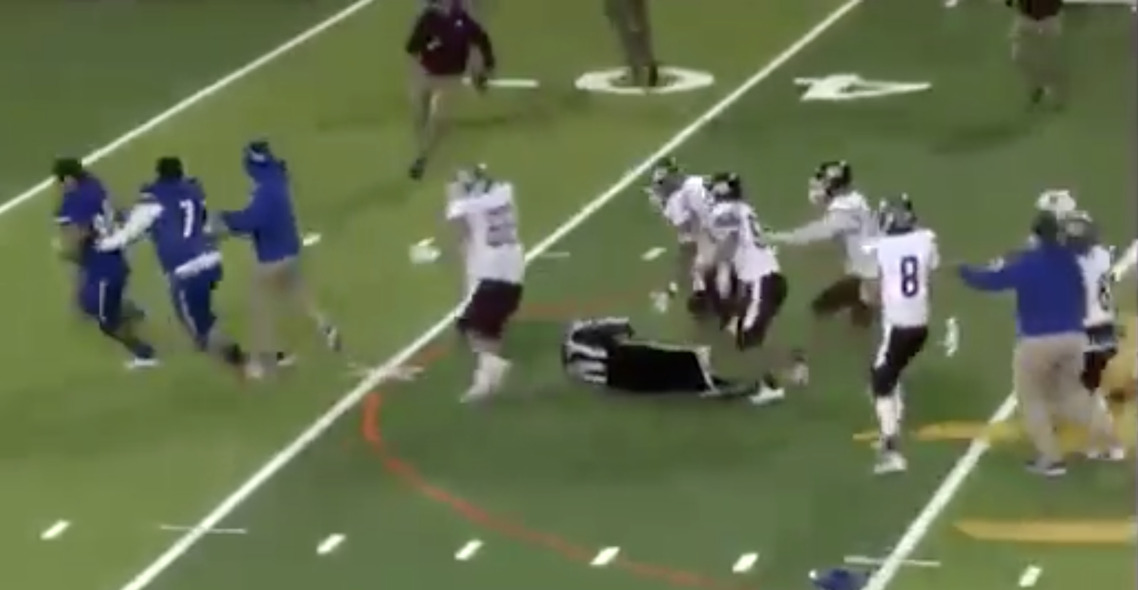 High school football player who body slammed ref thrown in jail
