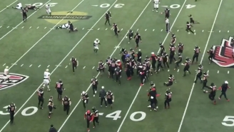The Last Play Of Western Michigan Vs. Ball State Was Utter Chaos After Both Teams Prematurely Rushed The Field And The Broncos Scored