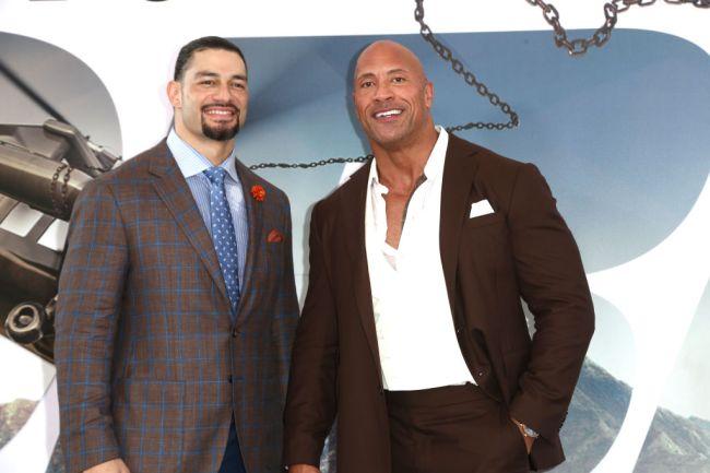 The Rock Roman Reigns Wrestlemania