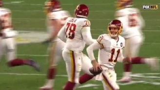 Washington QB Alex Smith Is Getting Called A Cheater By Steelers Fans For Running Off The Field With The Ball Before Field Goal Attempt