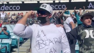 Jaguars Fans At Stadium Cheer After Bears Score TD Because They Want Team To Lose The Game To Draft Trevor Lawrence