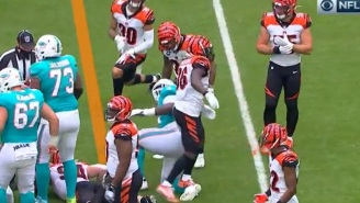 Video Shows Bengals' Shawn Williams Deliberately Stepping On Dolphins Player's Ankle