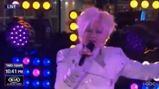 Cyndi Lauper's Absolutely Bizarre NYE Performance During New Year's Rockin' Eve Confuses Viewers