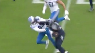 Titans RB Derrick Henry Delivers Wildly Disrespectful Stiff-Arm And Throws Lions' Alexander Myres To The Ground