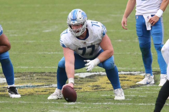 lions center frank ragnow fractured throat