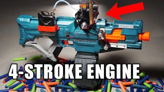 YouTuber Mods A Nerf Blaster With A Gas Motor So It Rapid Fires