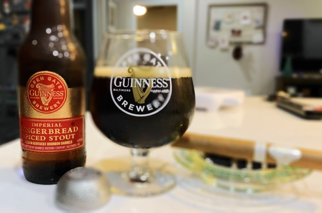 Guinness Imperial Ginger Bread Spiced Stout Bourbon Barrel Aged