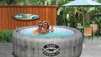 Kona Brewing Has A Portable Hot Tub For Your Outside Winter Hangs