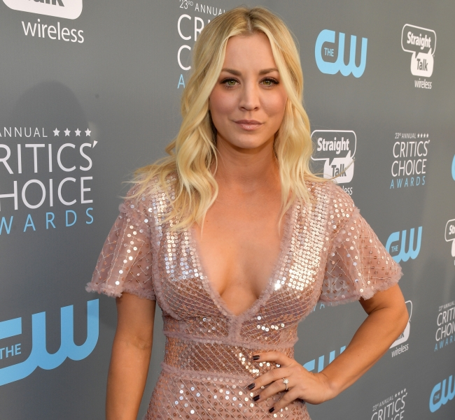 Actress Kaley Cuoco says she struggled with filming a steamy scene in her new movie 'The Flight Attendant' and needed tips from her co-star