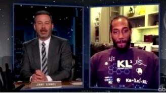 Kawhi Leonard Addresses Absurd 'Apple Time' Rumor In Hilarious Jimmy Kimmel Live Interview
