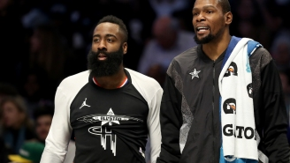 Kevin Durant Must Think We're All Stupid To Believe That He's Not Recruiting James Harden To Brooklyn Nets