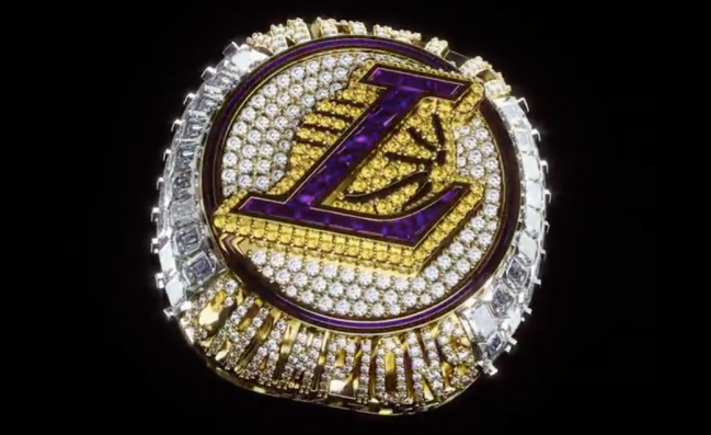 lakers 2020 championship ring kobe bryant