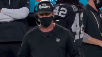 NFL Fans Mock Jon Gruden For Mistakenly Wearing An Oakland Raiders Hat During Team's Home Game In Las Vegas On 'TNF'