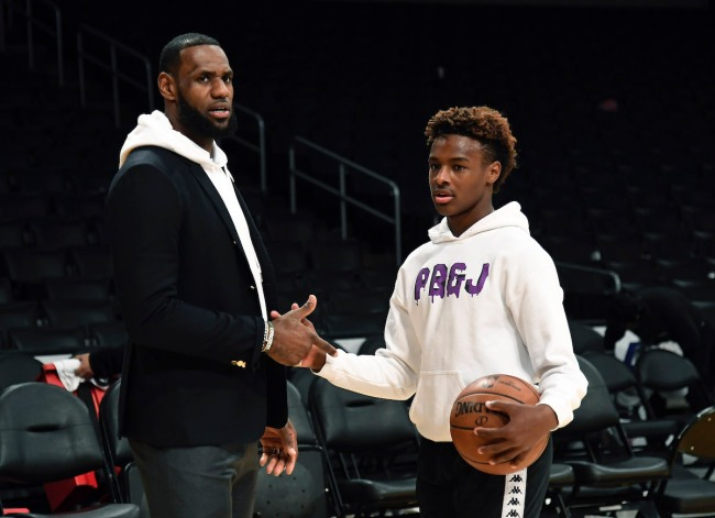 With LeBron James signing an extension with the Lakers, it gets him closer to playing with his oldest son Bronny James in the NBA