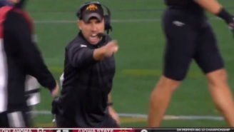 Iowa State HC Matt Campbell Loses His Mind And Yells At Refs During Big 12 Title Game, Becomes An Instant Meme