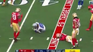 49ers Jimmie Ward Knocks Himself Out Cold While Trying To Deliver Big Hit On Cowboys' CeeDe Lamb
