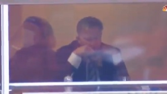 NBC Cameras Show John Elway Appearing To Spit Out Dip While Watching Chiefs-Broncos Game
