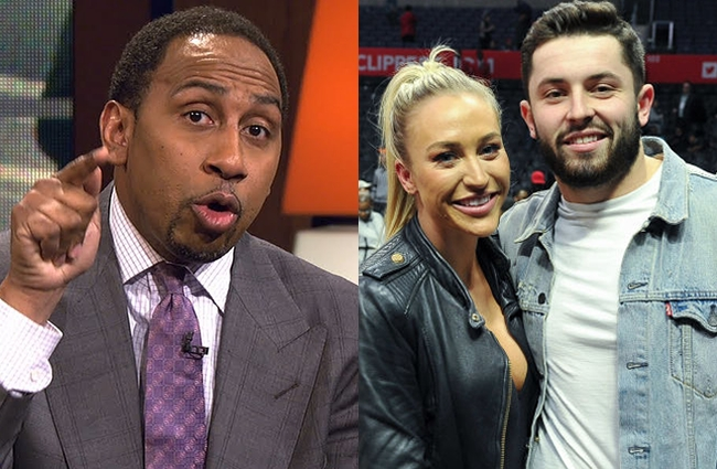 stephen a smith baker mayfield wife