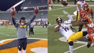 The Internet Mocks Steelers' JuJu Smith-Schuster For Dancing On Bengals' Logo Only To Catch 3 Passes For 15 Yards In Loss