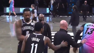NBA Security Stops Kyrie Irving And Bam Adebayo From Hugging Each Other After Game