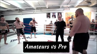 3 Amateurs Took On 1 Pro MMA Heavyweight And It Ended Very, Very Badly For Them