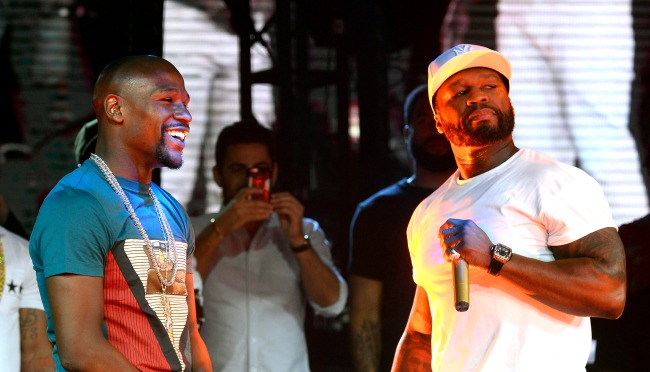 50 Cent Mocks Floyd Mayweather For Getting A Beard Transplant