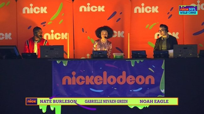 Nate Burleson's Kid-Friendly Explanations During The Nickelodeon Wild Card Game Are A Huge Hit