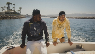 JuJu Smith-Schuster Got Seasick While Spearfishing With Dylan Efron On The Latest Episode Of 'Flow State'