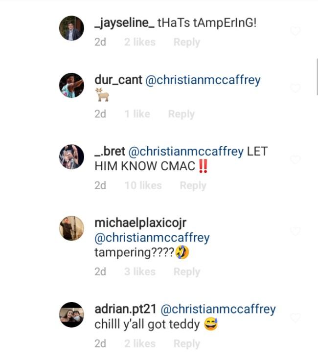Fans Accuse Christian McCaffrey Tampering Deshaun Watson