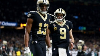 Saints' WR Michael Thomas Appears To Throw Drew Brees Under The Bus While Trolling Bucs' CB Carlton Davis During NFC Championship Game