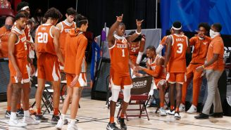 Texas Guard Andrew Jones Hit A Game-Winning Buzzing Beater Three Years After Cancer Diagnosis