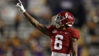 DeVonta Smith Becomes First Wide Receiver To Win Heisman Trophy Since Desmond Howard In 1991