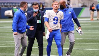 Rams QB John Wolford Brought To Hospital In Ambulance After Suffering Neck Injury On Scary Hit