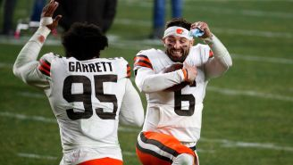 Baker Mayfield Quotes JuJu Smith-Schuster After Browns Troll Steelers In Dominant Wild Card Win