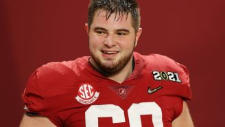 Alabama's Landon Dickerson Took One Final Snap In The National Championship After Season-Ending Knee Injury