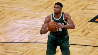 Giannis Antetokounmpo Bizarrely Made His Girlfriend Run While Carrying Their Son If He Missed Free Throws In Practice
