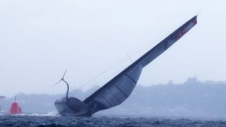 American Yacht Goes Airborne, Suffers Horrible Capsize During America's Cup Challenger Series