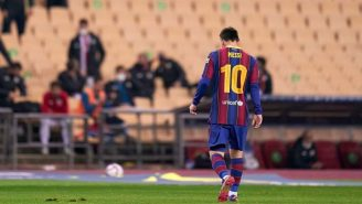 Lionel Messi Shown First Red Card At Barcelona After Hitting Opponent In The Back Of The Head