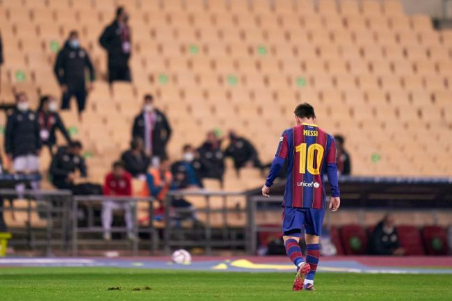 Lionel Messi Red Card barcelona