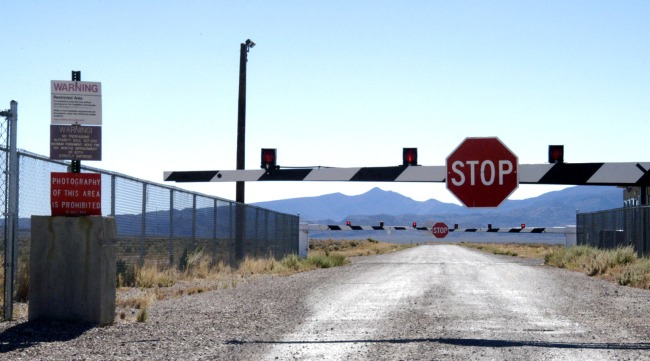 New Area 51 Images Taken By Pilot Show Strange Triangular Object Inside An Open Hangar