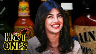 Priyanka Chopra Jonas Barely Survives The 'Hot Ones' Challenge, Talks About Meeting Larry Bird