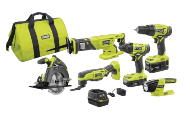 RYOBI Cordless 6-Tool Combo Kit