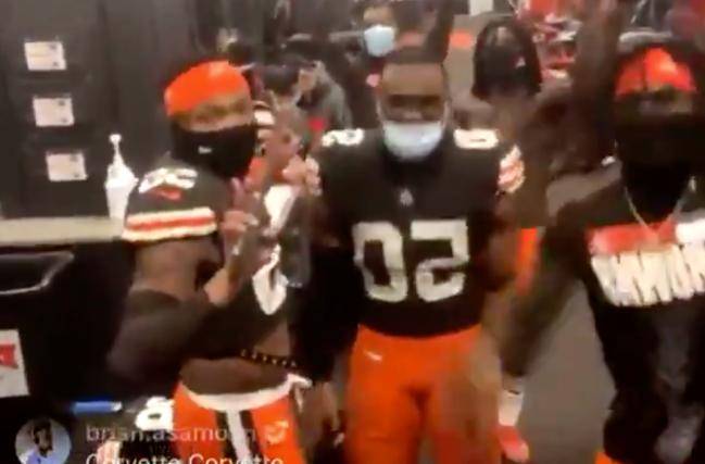 Browns Locker Room Dancing