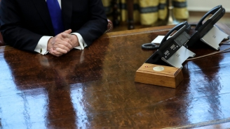 President Biden Removes Trump's Favorite Red Button From Oval Office Desk And, No, It Didn't Control The Nukes