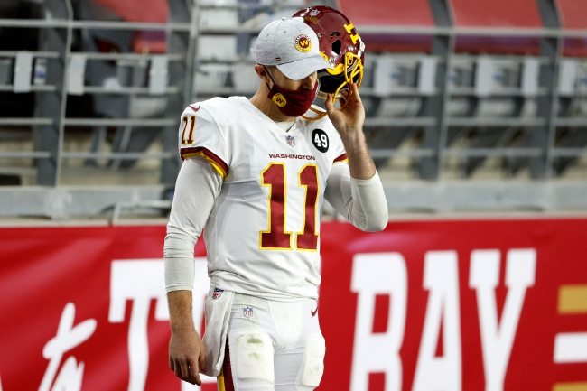 Washington Football Team quarterback Alex Smith compares his right knee to a 'skin quilt' where his leg just doesn't line up perfectly.