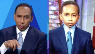Stephen A. Smith Arguing With A Baby Version Of Himself Is The Deepfake To End All Deepfakes