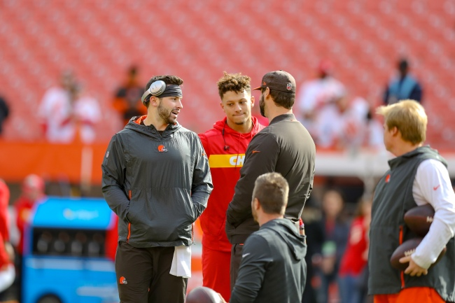 Fans react to analytics showing Baker Mayfield's outplaying Patrick Mahomes in past six weeks leading into NFL Playoffs game